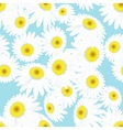 Seamless daisies pattern eps 10 vector