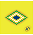 Stylized elements of a flag brazil vector