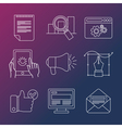 Internet business infographic design elements vector