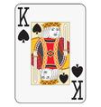 Jumbo index king of spades vector