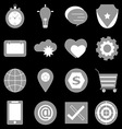 General icons on back background vector