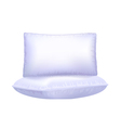 Two pillows on white background vector