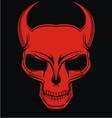 Red demon head vector
