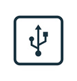 Usb icon rounded squares button vector