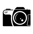 Camera sign black and white icon vector