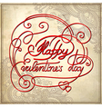 Happy valentines day on grungy paper vector