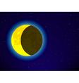 Moon on night sky vector