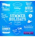 Summer design set of typographic labels for summer vector