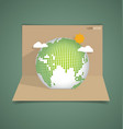 Pop up card with green eco earth vector