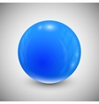 Blue ball on a white background vector