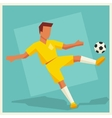 Soccer player in flat design style vector
