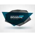 Abstract geometric 3d shape background vector