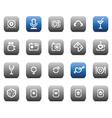 Stencil matt buttons for business vector