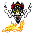 Dragon head tattoo vector