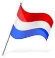 Flag of holland vector