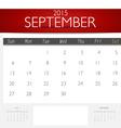 Simple 2015 calendar september vector