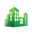 Eco building green vector