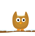 Funny animal on the snow branch part two vector
