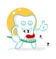Cartoon tooth decay vector