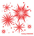 Holiday new year firework vector