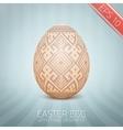 The easter egg with an ukrainian folk pattern vector