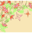 Summer flowers background vector
