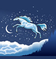 Snow horse vector