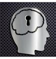 Human head with a keyhole vector