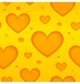 Cheese hearts seamless pattern vector