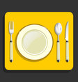Utensils and fork plate knife spoon vector