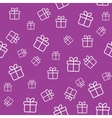 Pattern with gift boxes vector