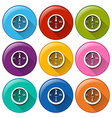 Buttons with compass vector
