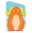 Cute yeti cartoon character vector