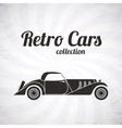 Retro cabriolet sport car vintage collection vector