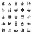 Spa icons on white background vector