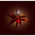 Abstract 3d crystal shape in space vector
