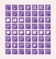 Flat design purple icon set vector