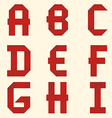 Ribbon red alphabet vector