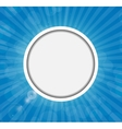 Frame on sunny shiny background vector