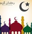 Bright ramadan card in format vector