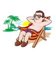 Beautiful leisure on beach vector