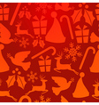 Red christmas elements pattern vector