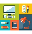 School flat design composition vector