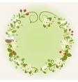 Wreath frame card vintage wooden sign floral bird vector