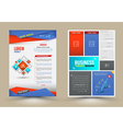 Flyer brochure design templates vector