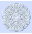 Circle lace ornament round ornamental geometric vector