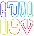 Paperclips collection vector