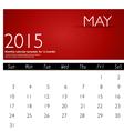 Simple 2015 calendar may vector