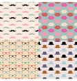 Hipster seamless pattern set vector