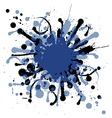 Grunge ink splat background blob vector